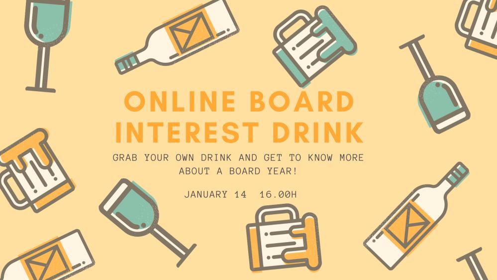 Online board interest drink